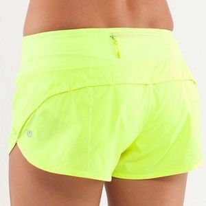 Lululemon neon yellow shorts size 6